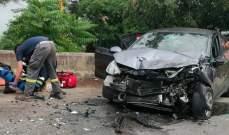 الدفاع المدني: جريحان نتيجة حادث سير في غادير- كسروان