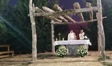 رعية بقاعكفرا احتفلت بعيد القديس حوشب في الدير الذي يحمل اسمه