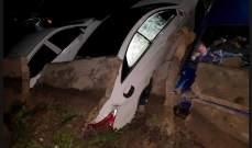 النشرة: انهيار حائط على طريق مغدوشة وتضرّر عدد من السيارات
