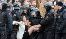 توقيف مئتي شخص في موسكو خلال مسيرة مؤيدة للصحافي غولونوف