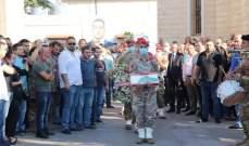قيادة الجيش وأهالي بلدة أبلح ودعت الشهيد جورج معلوف الذي استشهد جراء انفجارالمرفأ