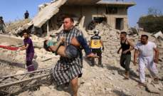 المرصد: مقتل 16 شخصاً جراء غارات روسية على سوق في شمال غرب سوريا