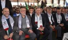 حركة حماس أقامت مهرجانا جماهيريا لمناسبة الذكرى الثلاثين لانطلاقتها في صيدا