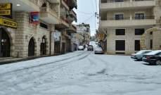 النشرة: تساقط أمطار وثلوج بغزارة في حاصبيا وموجة من البرد القارس