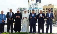السنيورة وبعض المرشحين لعضوية المجلس الشرعي زاروا ضريح الحريري