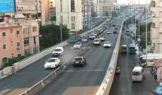 تعطل سيارة على جسر الكولا باتجاه نفق سليم سلام تسبب بازدحام مروري
