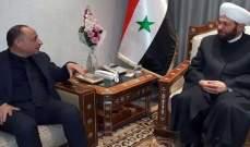ذبيان التقى المفتي حسون: سوريا حمت لبنان على الدوام من الأخطار