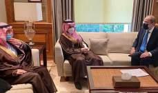 بن فرحان سلم الصفدي رسالة من الملك السعودي لنظيره الأردني: نقف معا بمواجهة كل التحديات