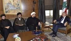 بري التقى رئيس وأعضاء جمعية الطاقة الوطنية اللبنانية ووكيل المرجع النجفي بلبنان وسوريا