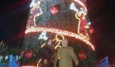 انارة شجرة الميلاد في ابل السقي وكوكبا وتمنيات ان يعم السلام لبنان