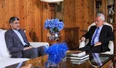 السفير الإيراني يؤكد خلال لقائه فرنجية استعداد بلاده لدعم لبنان بكافة المجالات