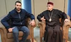 المطران درويش التقى رئيس جمعية تجار زحلة واستمع منه الى مطالب التجار