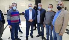 النشرة: سفير فلسطين في لبنان تفقد مستشفى الهمشري في صيدا