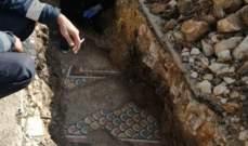 اكتشاف لوحات فسيفسائية من العهد الروماني أثناء عملية حفر بالسوق التجاري في بعلبك