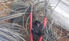 سرقة كابل الكهرباء الرئيسي الذي يغذي الرميلة وعلمان وقسم من الوردانية