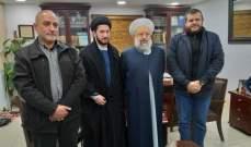الشيخ ماهر حمود استقبل وفدا من حزب الله وبحث معه أوضاع لبنان والمنطقة