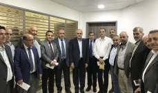 وزير المال التقى مدير عام الريجي على رأس وفد من بلديات عكار