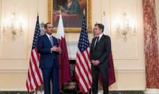 وزير الخارجية القطري يبحث مع بلينكن الملف اللبناني: ندفع نحو تشكيل حكومة بأسرع وقت