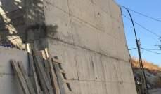 بلدية حارة صيدا تعلن عن انجاز ٩٠% من جدار الدعم في منطقة التعمير