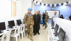 الكتيبة الايطالية قدمت هبة عبارة عن أجهزة كمبيوتر لمدرسة الإشراق ببنت جبيل