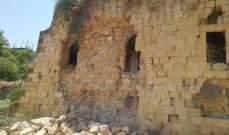 النشرة: انهيار جزء من الحائط الشرقي للسراي الشهابية في حاصبيا ولا اصابات