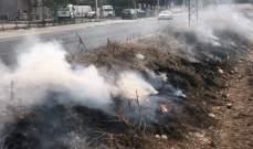 اندلاع حريق في صور والدفاع المدني اخمد سلسلة حرائق في منطقة النبطية