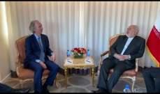 ظريف وبيدرسون بحثا في نيويورك بالتطورات في سوريا ومكافحة الإرهاب