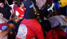 النشرة: جريحة في حادث صدم على الكورنيش البحري لمدينة صيدا