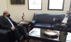 وهبه إستقبل عز الدين وبحثا المستجدات السياسية اللبنانية والدولية