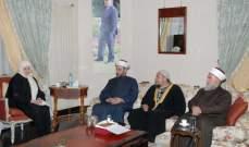 الحريري استقبلت هيئة علماء المسلمين في لبنان