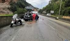 قتيل نتيجة انزلاق سيارة على اوتوستراد المتن السريع باتجاه بعبدات