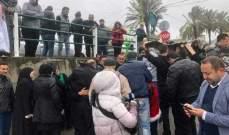 اعتصام لذوي الضحية علي جابر الذي سقط بحادث سر على اتوستراد حبوش - النبطية