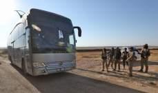 وصول الدفعة الرابعة من الحافلات التي تقل أهالي الفوعة وكفريا إلى معبر الحاضر