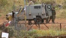 النشرة: قوى اسرائيلية مشطت الطريق العسكري المحاذي للسياج الحدودي