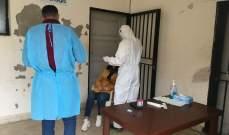 فريق من وزارة الصحة أجرى فحوصات PCR لعشرات المخالطين ببلدة الدوير
