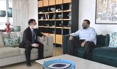 أحمد الحريري عرض مع سفير الصين التطورات السياسية والملف الحكومي