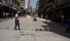 حمد تفقد تبليط شارع الأوزاعي ضمن مشروع يهدف الى تحويله الى شارع نموذجي