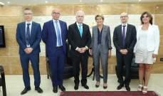 خطار بحث مع وفد فرنسي بسبل التعاون واستمرارية الدعم للدفاع المدني