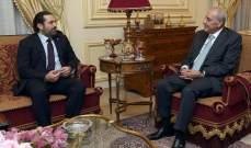 الحريري لبري: متوقف عن تناول الالبان والاجبان وحالة البلد بدها ريجيم سياسي
