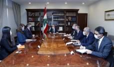 عون يبحث مسار التفاوض مع رئيس الوفد الأميركي الوسيط بعملية التفاوض لترسيم الحدود البحرية