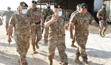 رئيس الأركان تفقد الوحدات في منطقة الشمال: دماء الشهداء وتضحياتهم الغالية لن تذهب هدرا