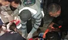 حادث سير عند مفرق بلدة ديرقانون راس العين جنوب مدينة صور