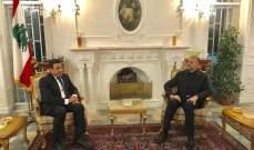 عبداللهيان التقى سفير لبنان بإيران: ايران ستبقى بقوة بجانب لبنان