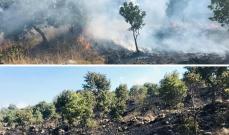 حريق في أحراج الكواشرة بسبب إرتفاع الحرارة واخماد حريق في عرنابا مغدوشة