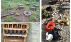 الجيش: العثور على مدفع هاون وأعتدة عسكرية وذخائر في عكار ووادي عطا