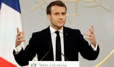 ماكرون: للتوقف عن إرسال مقاتلين سوريين وأجانب موالين لتركيا إلى ليبيا