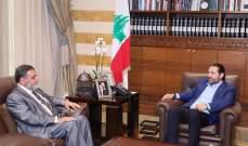 الضاهر: سمعت من الحريري أن العمل لمصلحة البلد ومعالجة أزماته هو الأهم لاستقراره