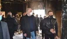 وزير الداخلية تفقد بلدية طرابلس واطلع على الاضرار