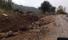 وزارة الأشغال عالجت الانهيار وزحل التربة على طريق عام ترشيش زحلة بالطرق المناسبة