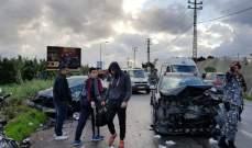 النشرة: حادث سير مروع على طريق عام صور الناقورة أدى الى سقوط 4 جرحى
